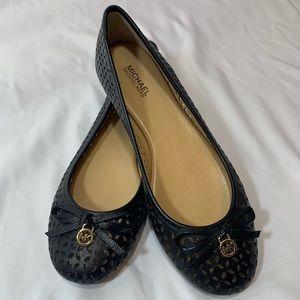 MICHAEL Michael Kors black leather flats